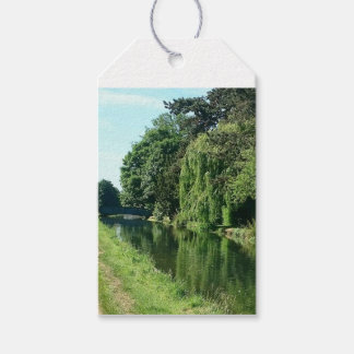 River walk green leaves and trees gift tags