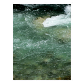 River water flowing postcard