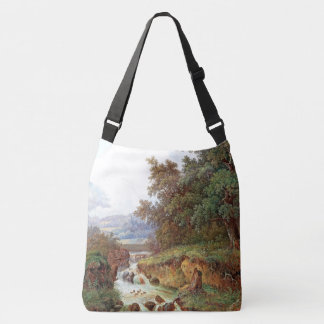 River Waterfall Mountains Alps Cabin Tote Bag