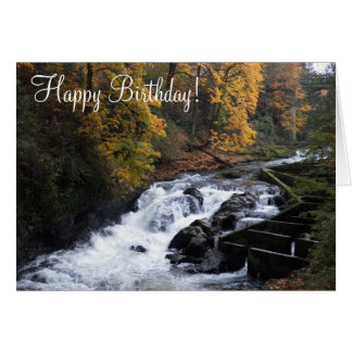 River Waterfall Photo Birthday Greeting Card