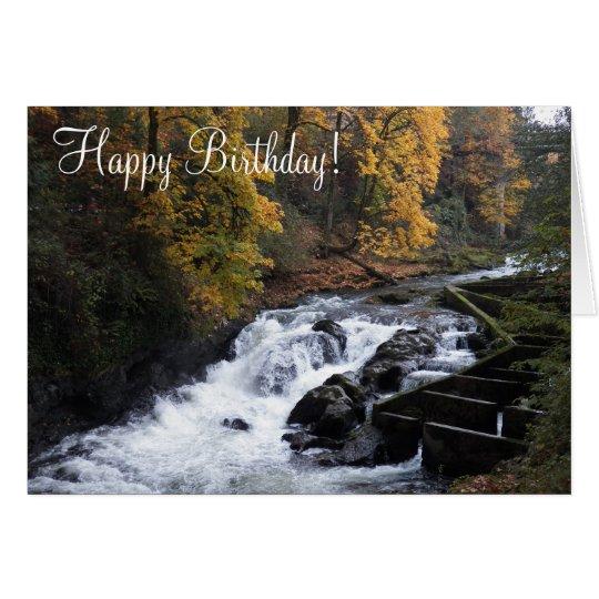 River Waterfall Photo Birthday Greeting Card
