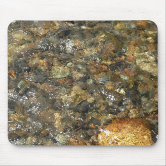 River-Worn Pebbles Brown and Grey Natural Abstract Mouse Pad