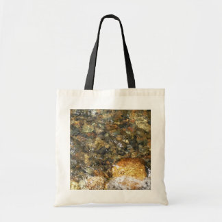 River-Worn Pebbles Brown and Grey Natural Abstract Tote Bag