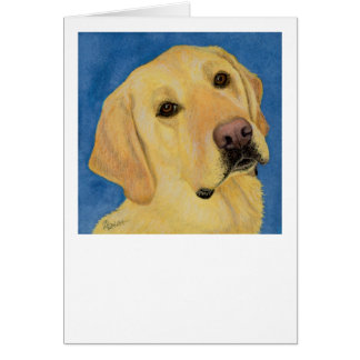 """""""River"""" - Yellow Lab Card"""