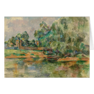Riverbank by Cezanne Blank Greeting Card
