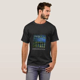 Riverboat at Night by Julian Zey T-Shirt