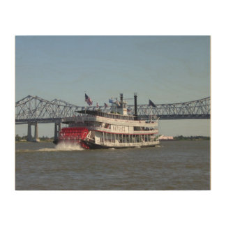 Riverboat in New Orleans on Wood Wood Canvases
