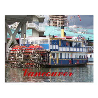 Riverboat  Vancouver postcard