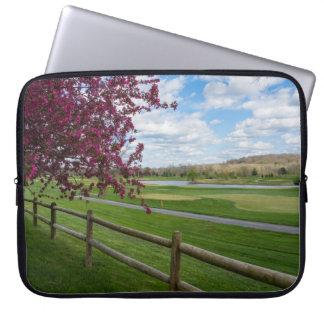 Rivercut In Spring Laptop Sleeve