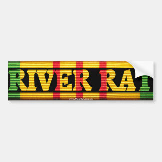 Riverine Inf. River Rat VSM Bumper Sticker