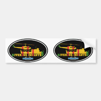 Riverine Infantry Vietnam ATC(H) CIB Euro-Stickers Bumper Sticker