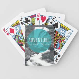 Rivers | Adventure Is Out There Quote Bicycle Playing Cards