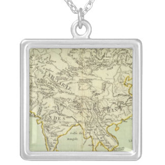Rivers and Mountains of Asia Square Pendant Necklace