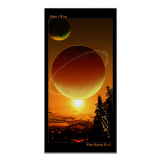 Rivers of Flame - Planet Epsilon Zeta 2 Poster
