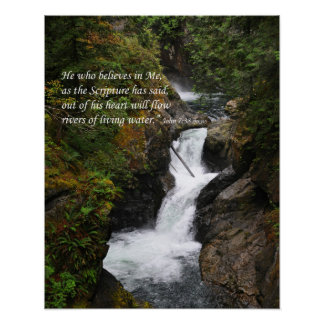 Rivers of Living Water Inspirational Wall Poster