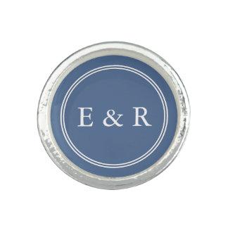 Riverside Blue with White Wedding Detail Ring