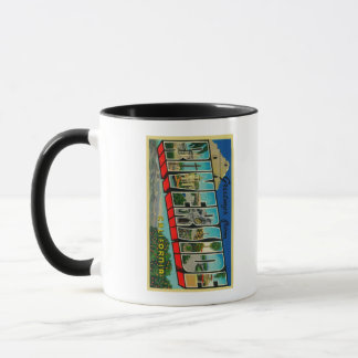 Riverside, California - Large Letter Scenes Mug