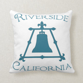 Riverside, California Raincross Fleur Design Throw Pillow