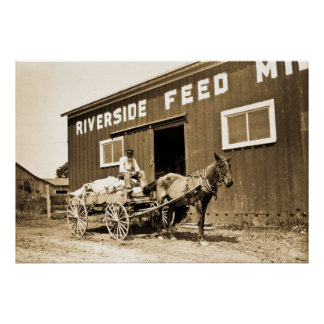 Riverside Feed Mill Poster