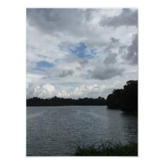 Riverside in Twilight Poster