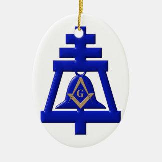 Riverside Mason Ceramic Ornament