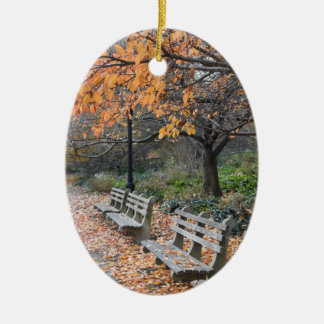 Riverside Park Manhattan Upper West Side New York Ceramic Ornament