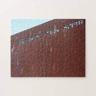 Riverside Park South Rusty Sign New York City NYC Jigsaw Puzzle