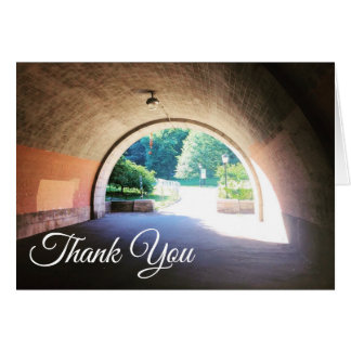 Riverside Park Stone Archway NYC Thank You Note Card