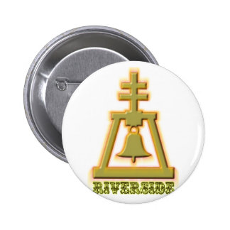 Riverside Raincross 2 Inch Round Button