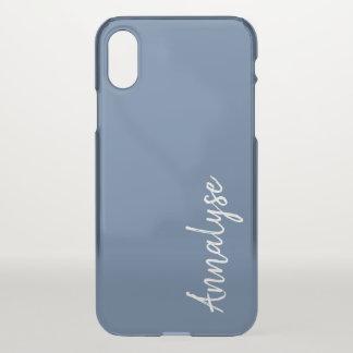 Riverside Rich Ocean Blue Sleek Solid Color Custom iPhone X Case