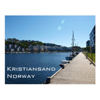 Riverside View In Kristiansand, Norway Postcard