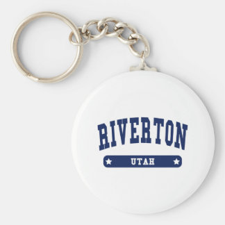 Riverton Utah College Style tee shirts Keychain