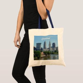 Riverview Cleveland Skyline Tote Bag