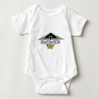 Riverview MI - Airport Runway Baby Bodysuit