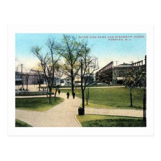 Riverview Park & Docks, Hoboken NJ Vintage Postcard