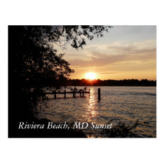 Riviera Beach, MD Sunset - POSTCARD