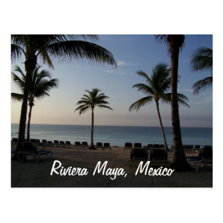 Riviera Maya Cancun Mexico Beach Vacation Postcard