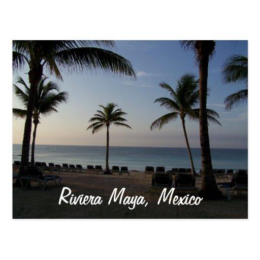 Riviera Maya Cancun Mexico Beach Vacation Postcards