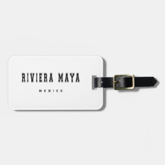 Riviera Maya Mexico Luggage Tag
