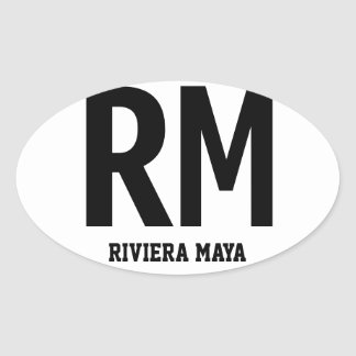 Riviera Maya Oval Bumper Sticker