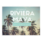 Riviera Maya Tropical Beach Save the Dates Postcard