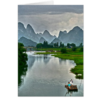 Rivière de Yulong, Yangshuo Carte De Correspondance