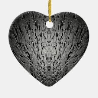 Rivulets on a sandy beach ceramic heart ornament