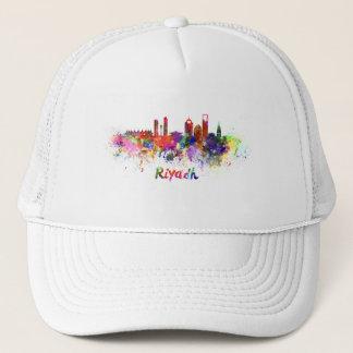 Riyadh skyline in watercolor trucker hat