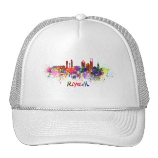 Riyadh skyline in watercolor trucker hat