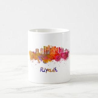 Riyadh V2 skyline in watercolor Coffee Mug