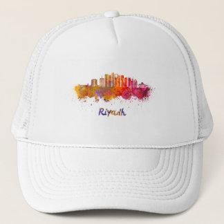 Riyadh V2 skyline in watercolor Trucker Hat