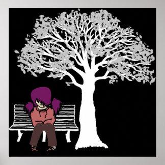 Riyah-Li conçoit Emo en parc Affiches