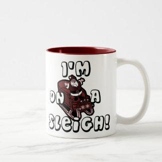 Riyah-Li Designs I'm On A Sleigh Two-Tone Coffee Mug
