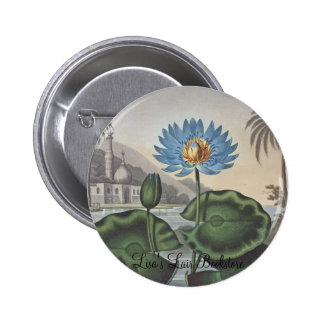 RJ Thornton - The Blue Egyptian Water-Lily 2 Inch Round Button